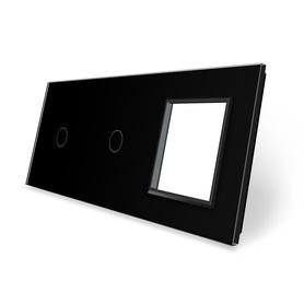 Panel szklany 1+1+G czarny