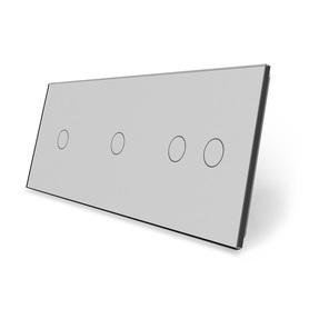Panel szklany 1+1+2 szary