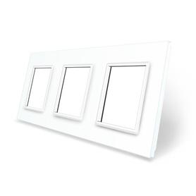 Ramka szklana 3 biała LIVE ON LOVE