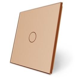 C1-13 Pojedynczy złoty panel szklany