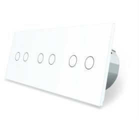 Wyłącznik dotykowy zestaw 2+2+2 biały WELAIK