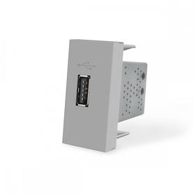 Moduł ładowarki USB 2,1A szary