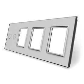 Panel szklany 2+G+G+G szary