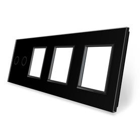 Panel szklany 2+G+G+G czarny WELAIK