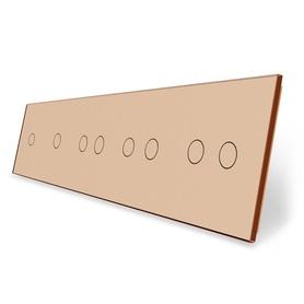 Panel szklany 1+1+2+2+2 złoty do modułów LIVE ON LOVE