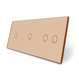 Panel szklany 1+1+2 złoty