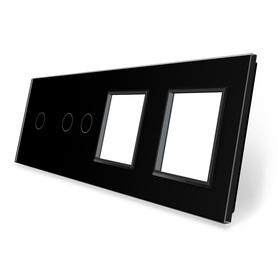 Panel szklany 1+2+G+G czarny WELAIK