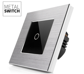 MetalSwitch wyłącznik dotykowy pojedynczy srebrny alu
