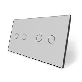 Panel szklany 2+2 szary