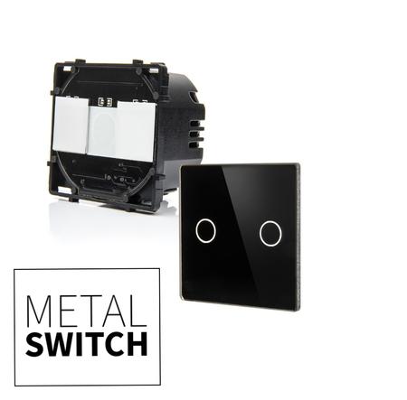 MetalSwitch moduł wyłącznika podwójnego + szkło montażowe (1)