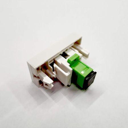 WELAIK gniazdo światłowodowe moduł SC/APC czarne (2)