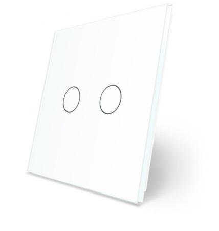 P2 Podwójny biały panel szklany WELAIK (1)