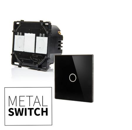MetalSwitch moduł wyłącznika pojedynczego + szkło montażowe (1)