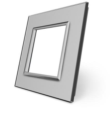 Ramka szklana pojedyncza szara SR-15 WELAIK ® (1)