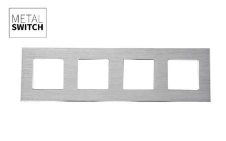 MetalSwitch ramka poczwórna srebrna alu (1)