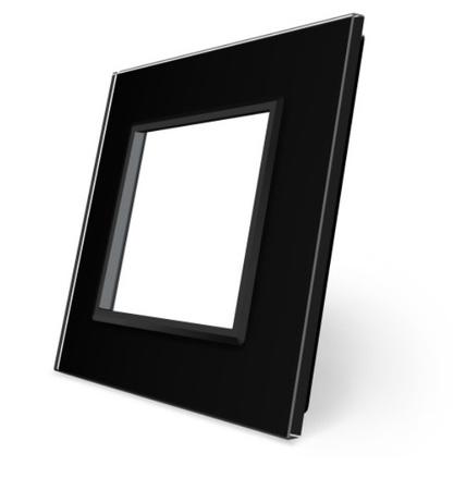 Ramka pojedyncza szklana czarna SR-12 WELAIK ® (1)