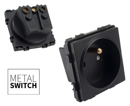 MetalSwitch moduł gniazda pojedynczego czarny (1)