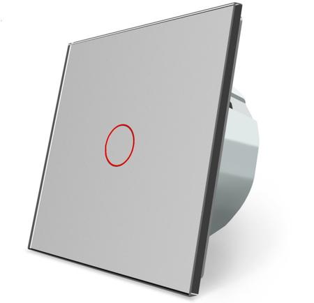 Wyłącznik dotykowy zestaw pojedynczy szary WELAIK (1)