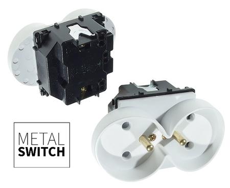 MetalSwitch moduł gniazda podwójnego biały (1)