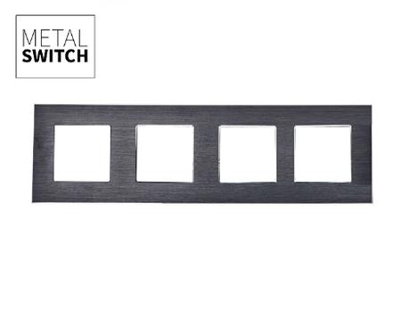 MetalSwitch ramka poczwórna czarna alu (1)