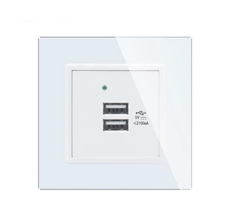 USB ładowarka podwójna biała zestaw Welaik (2)