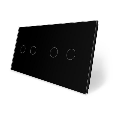 Panel szklany 2+2 czarny WELAIK (1)